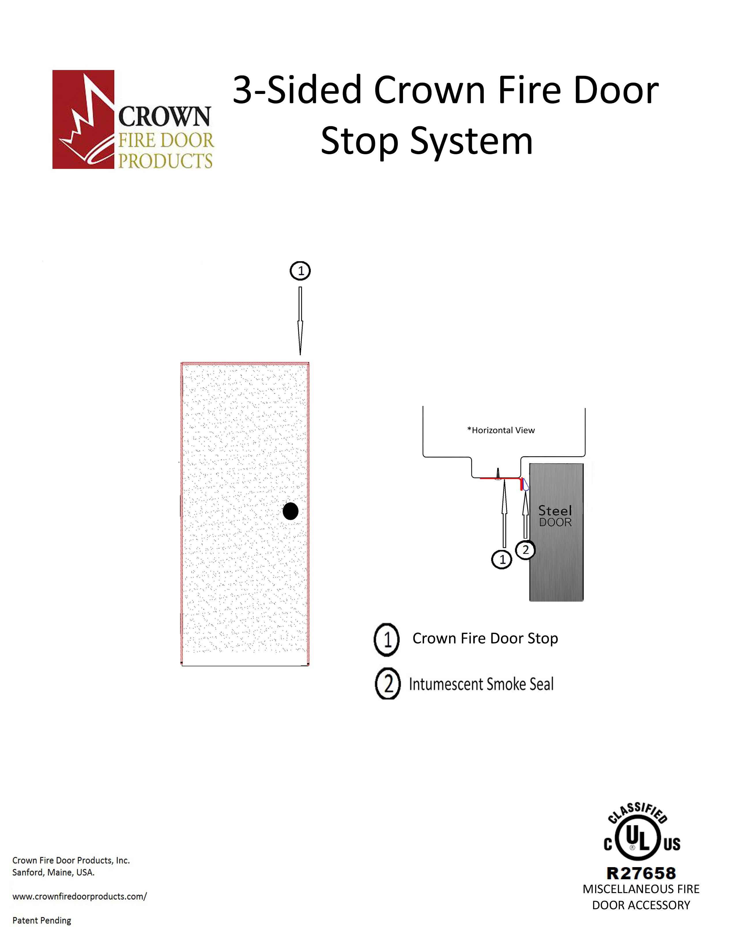 3-Sided-fire-door-stop  sc 1 st  Crown Fire Door Products & Crown Fire Door Stop System - Crown Fire Door Products