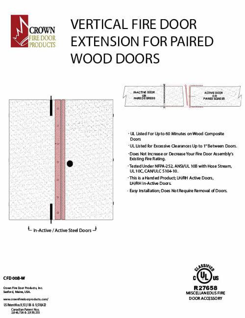 Vertical Fire Door Extension for Paired Wood Doors